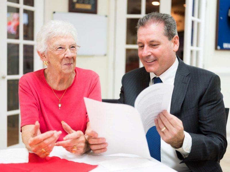 Gene Lipscher with Client Discussing Estate Planning